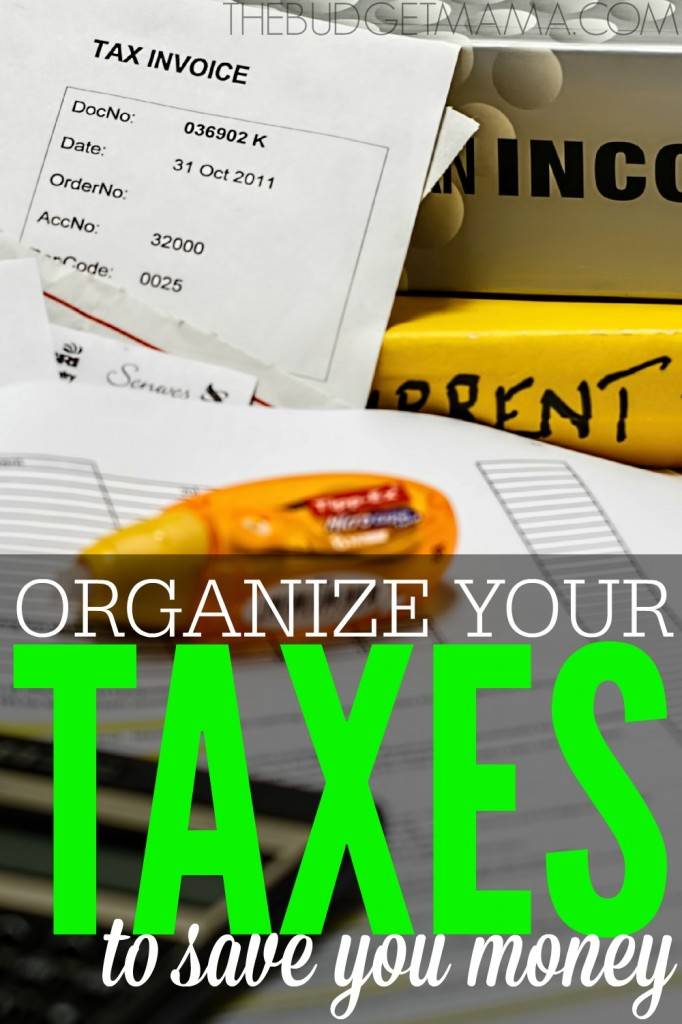 Taxes may be no fun, but if you do not organize your taxes all year long, you could end up spending more money. Keep your taxes organized and save more money!