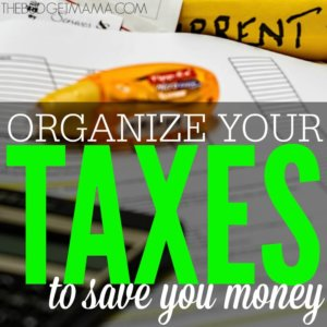 Simple Ways to Organize Your Taxes to Save You Money SQ