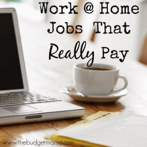 What is the best job to work from home you know like working from home?