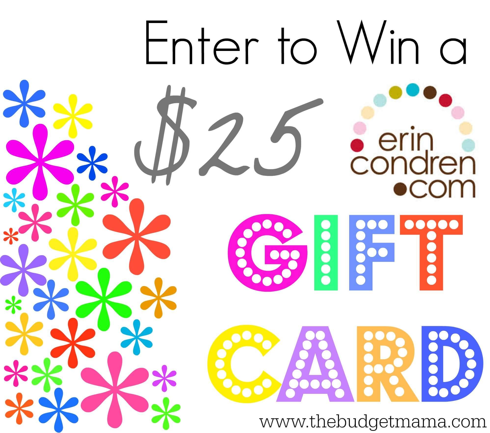 Erin Condren $25 Giveaway