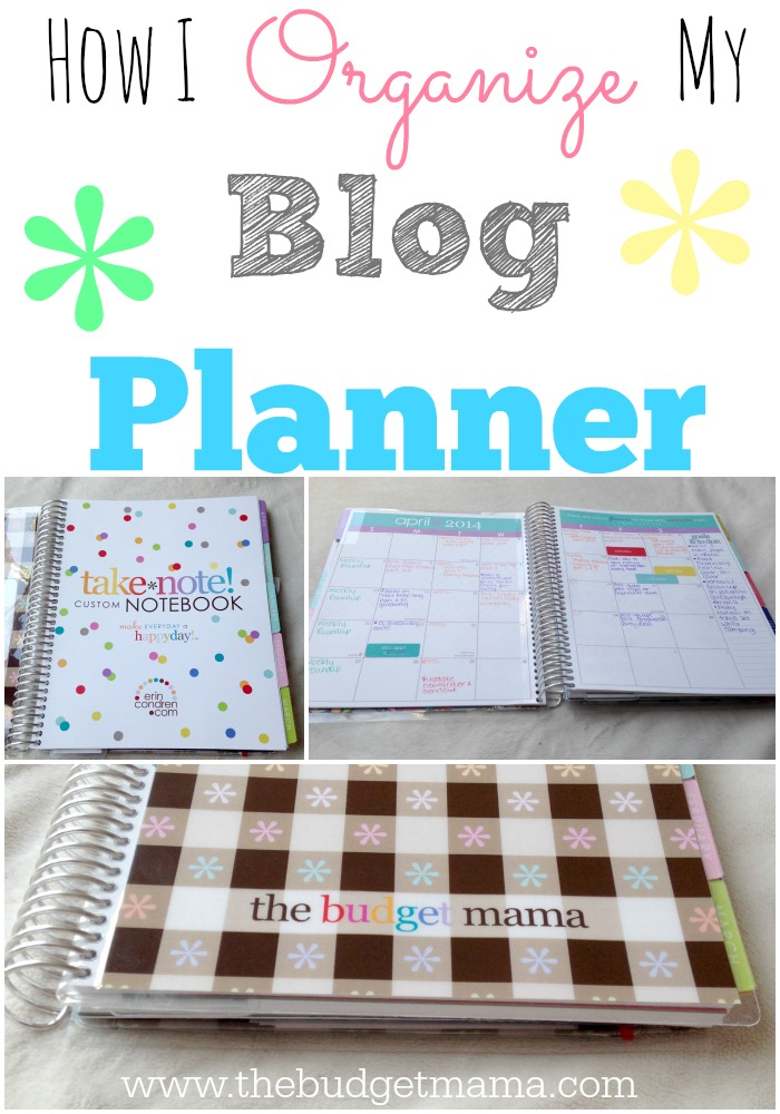 How I Organize My Blog Planner