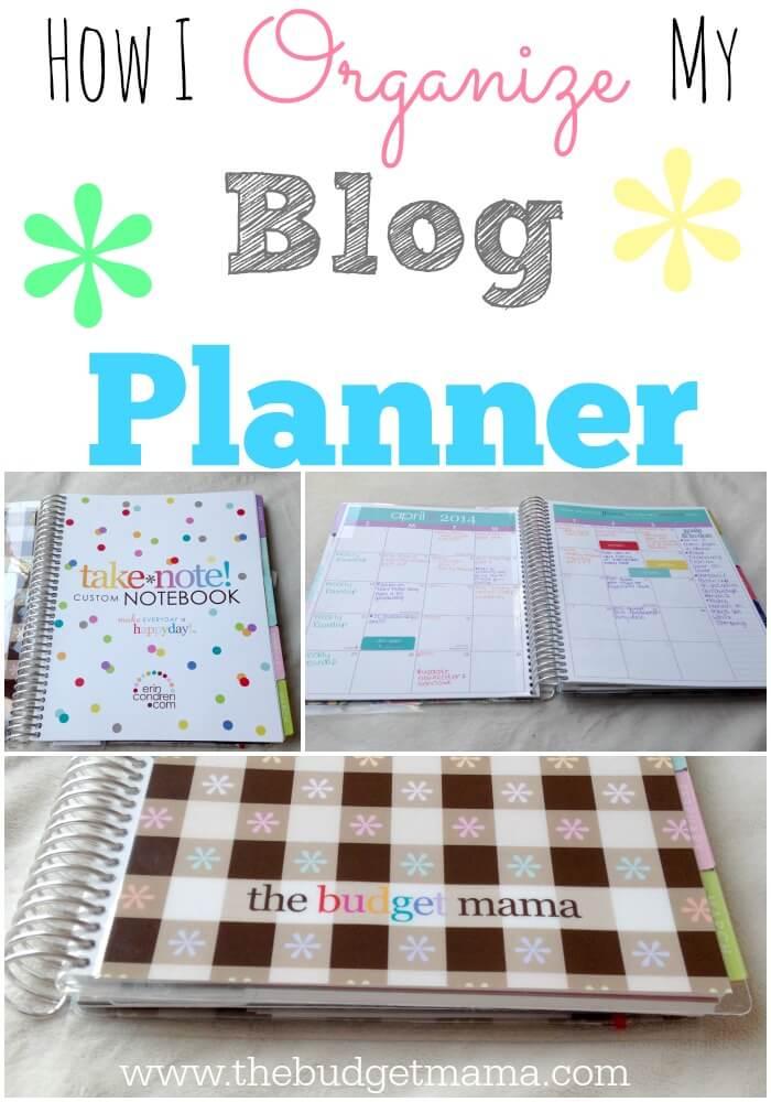 How I Organize My Blog Planner