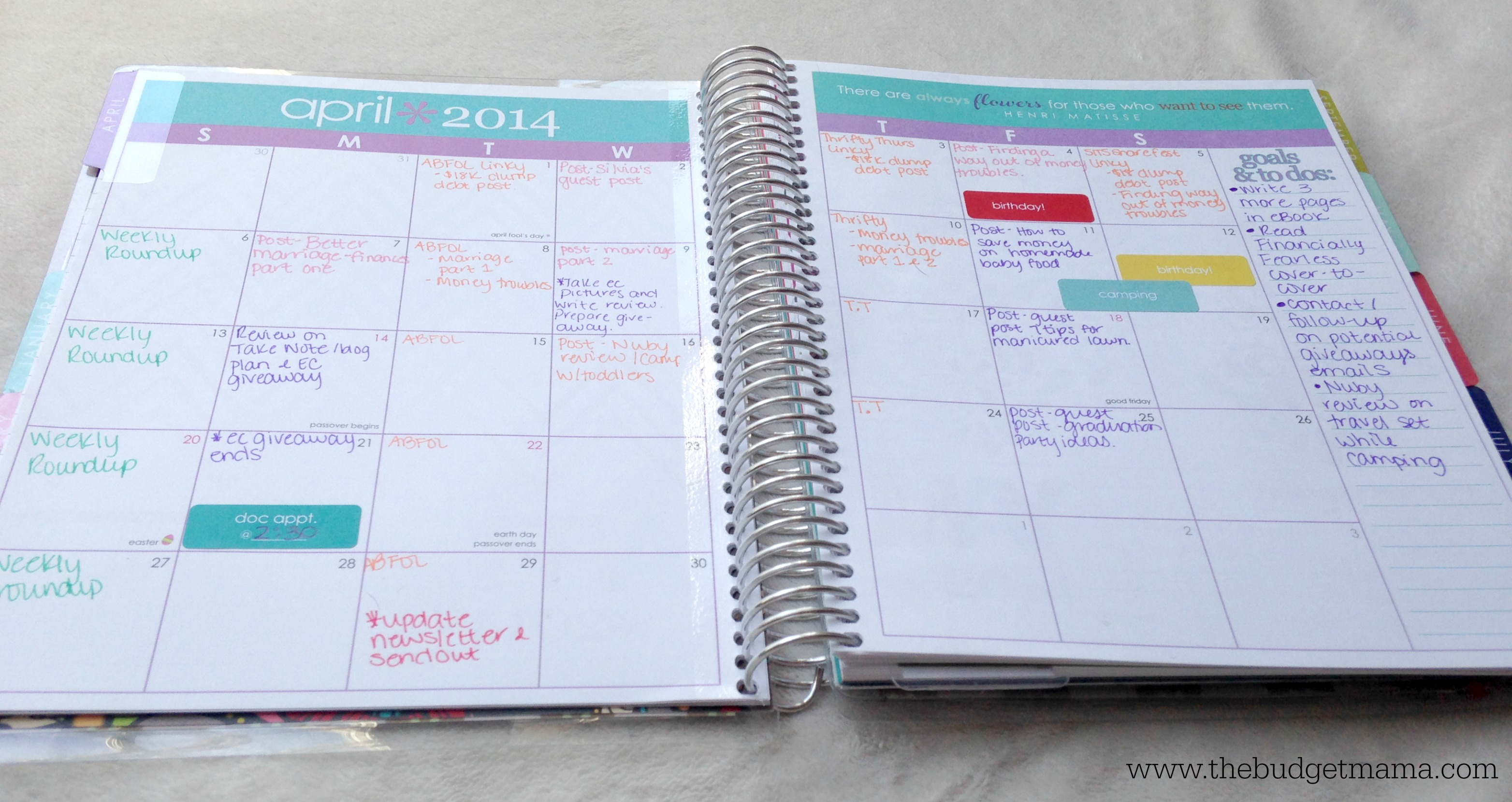 How I Organize My Blog Planner Jessi Fearon