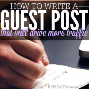 How to Write a Guest Post SQ