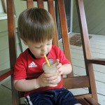 Conner Enjoying Bigelow Tea