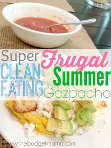 Super Frugal Clean Eating Summer Gazpacho