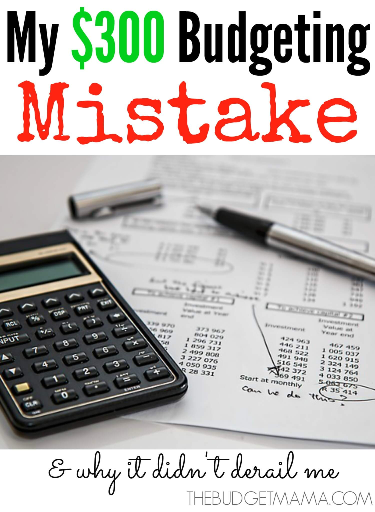 My $300 Budgeting Mistake