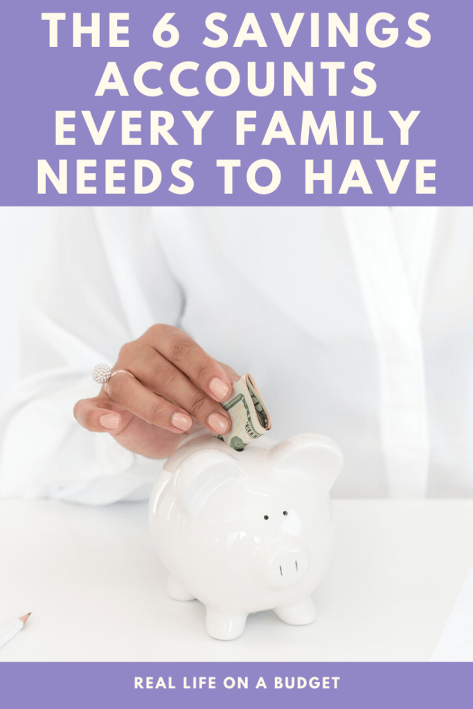 YES, you need to have 6 different savings accounts for your family! This makes figure out expenses and managing money so much easier and will give your family so much peace!