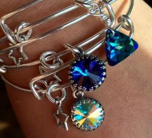 Adjustable Crystal Element Bracelet