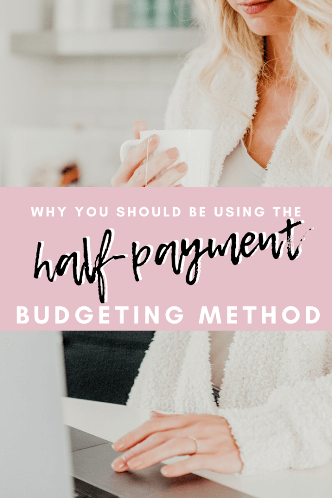The Half Payment Method explained; Want to stop living paycheck-to-paycheck? The Half Payment Method is the simplest solution for stopping the endless paycheck-to-paycheck cycle.