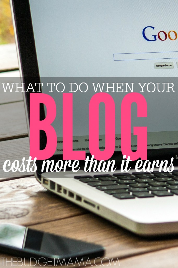This is the hardest part of blogging. Figuring out when to monetize your blog. So what do you do when your blog is costing you more than it earns?