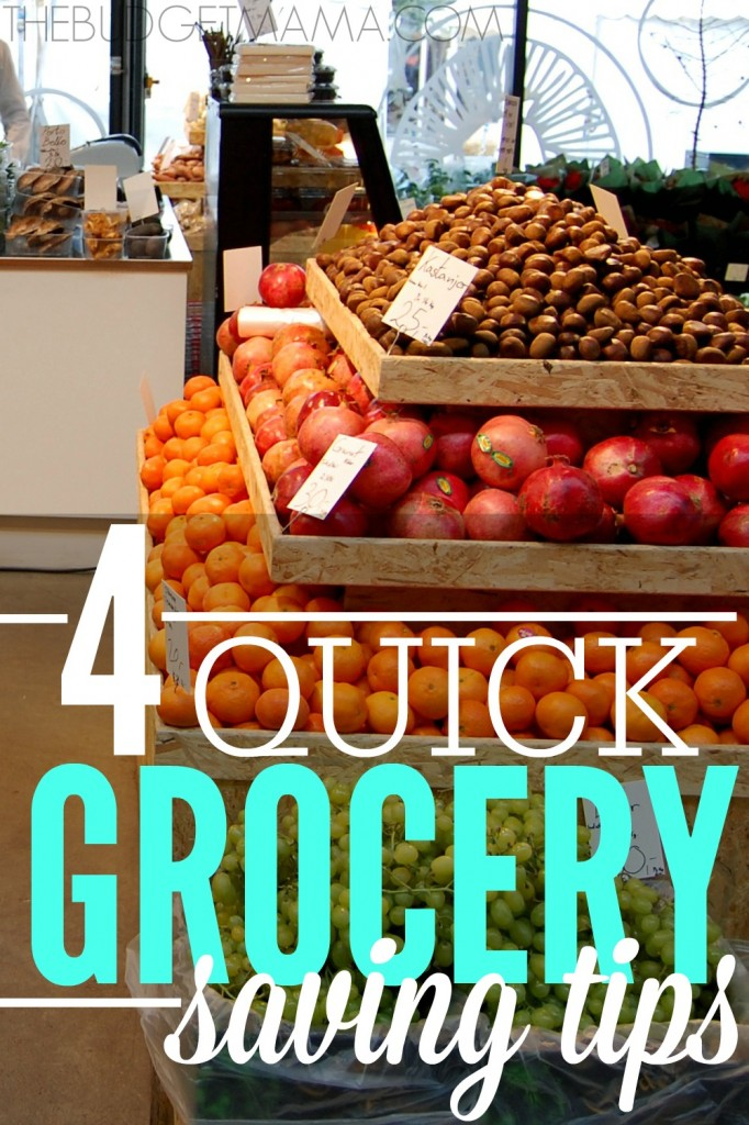 These four quick grocery saving tips will help you slash your grocery budget and help you keep your sanity!