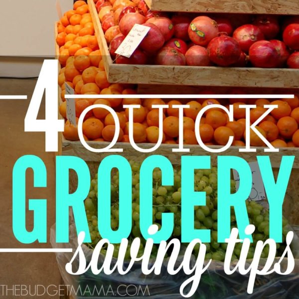 Quick Grocery Saving Tips