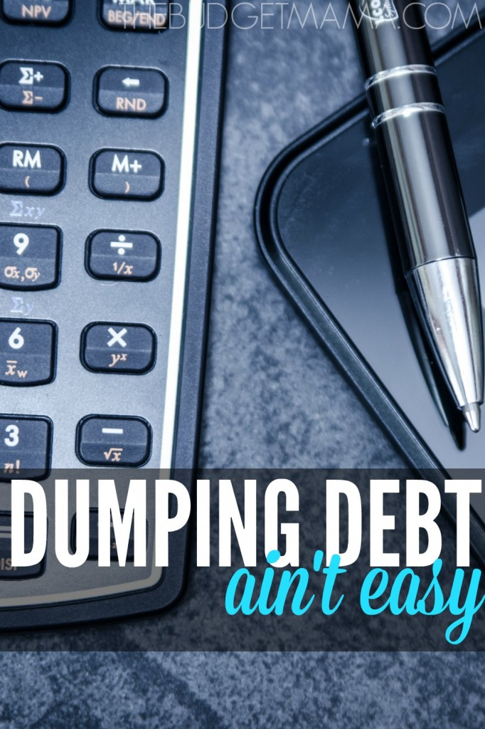 Dumping debt takes hustle. It ain't easy to defeat the debt monster, but it can be done if you are willing to hustle.