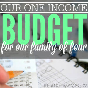 Our 2015 One Income Budget for Family of Four SQ