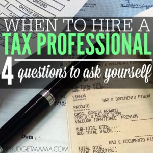 When to Hire a Tax Professional SQ