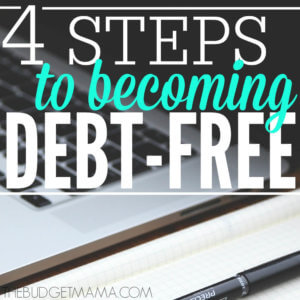 4 Steps to Become Debt Free SQ