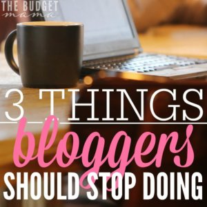 I love blogs and bloggers but there are a few things that need to stop in the blogging world. Bloggers should stop doing these 3 things immediately.