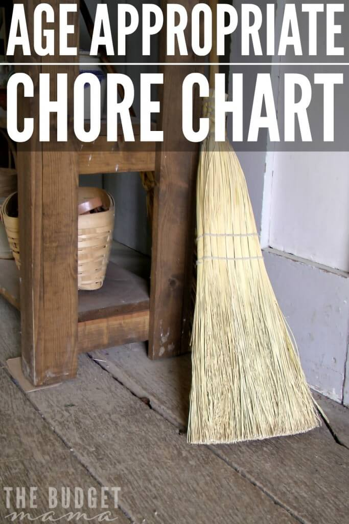 Struggling to remember that your kids are perfectly capable of doing chores? This age appropriate chore chart will help remind you of what chores your child can do.