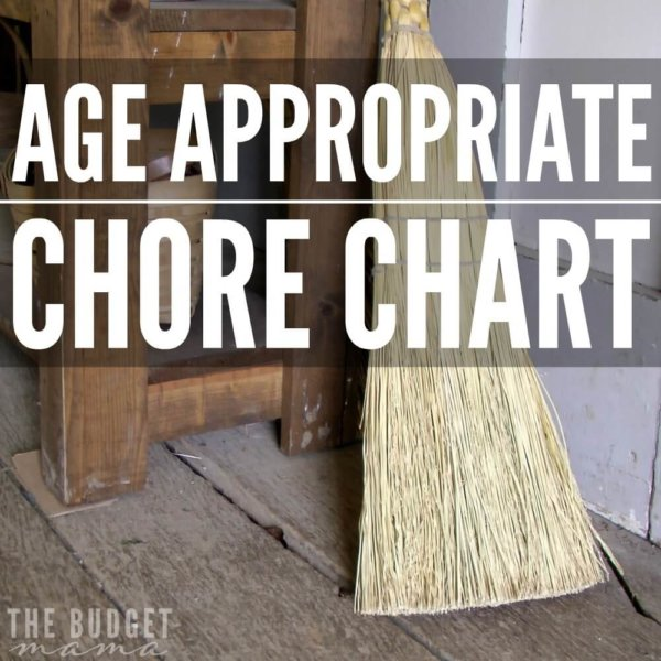 Age Appropriate Chore Chart (Free Printable)