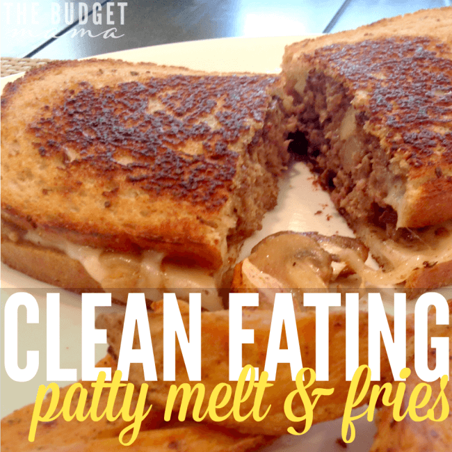 Looking for an easy and delicious recipe for lunch or for dinner? This clean eating patty melt and fries recipe is sure to please!