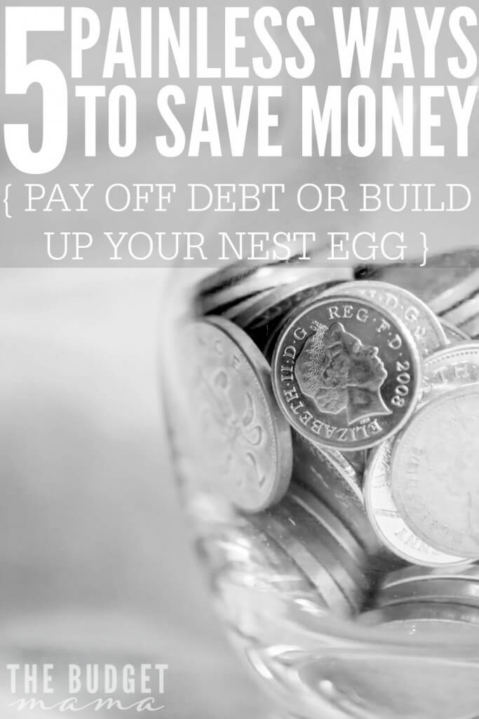 These 5 painless ways to save money will help you build up your emergency fund, eliminate debt, and add more money to your budget faster and easier.