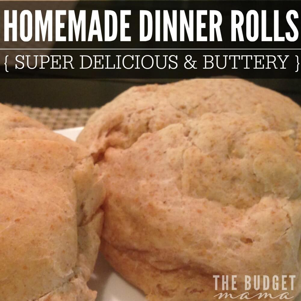 This Homemade Dinner Rolls recipe is the perfect compliment to any meal! It's sweet, buttery, and overall just delicious. Tailor it to fit your taste buds and add it to your meal tonight!