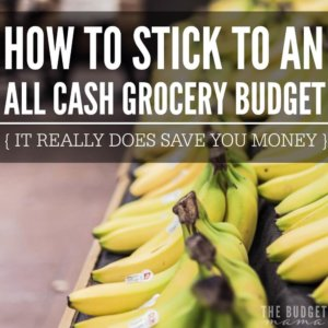 How to stick to an all cash grocery budget - it's not easy only spending cash at the grocery store, but it's an amazing way to get your family's budget under control. This post makes figuring out how to stick to your all cash grocery budget easier and doable.