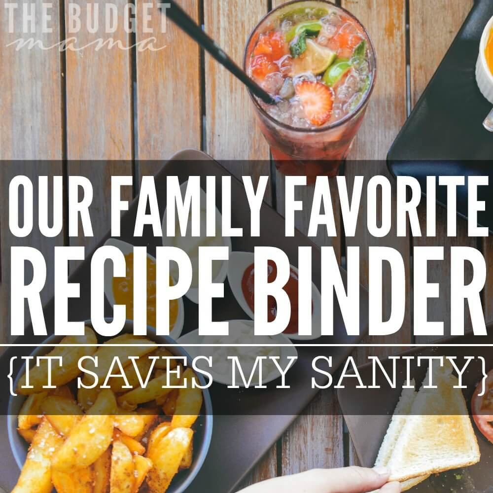 Do you keep a favorite family recipe binder? If not, it could save ...
