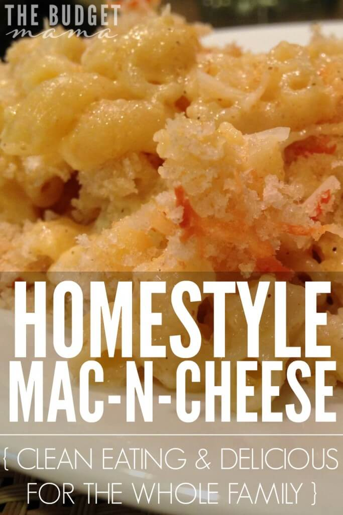 Looking for a delicious homestyle mac n cheese recipe that is sure to please the whole family? This is a super delicious recipe and best of all, it's clean eating!