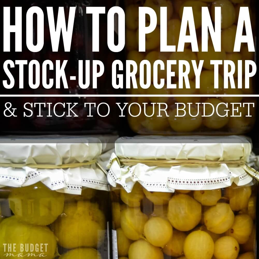 Wondering how you can save more money at the grocery store? Make sticking to your budget easier with a stock-up trip! How to plan a stock-up grocery trip and stick to your budget is made easier with a solid plan in place!