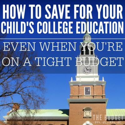 How to save for your child's college education when you're on a tight budget? This isn't always an easy question to answer but it may be easier than you think to save the money to send your child off to college!