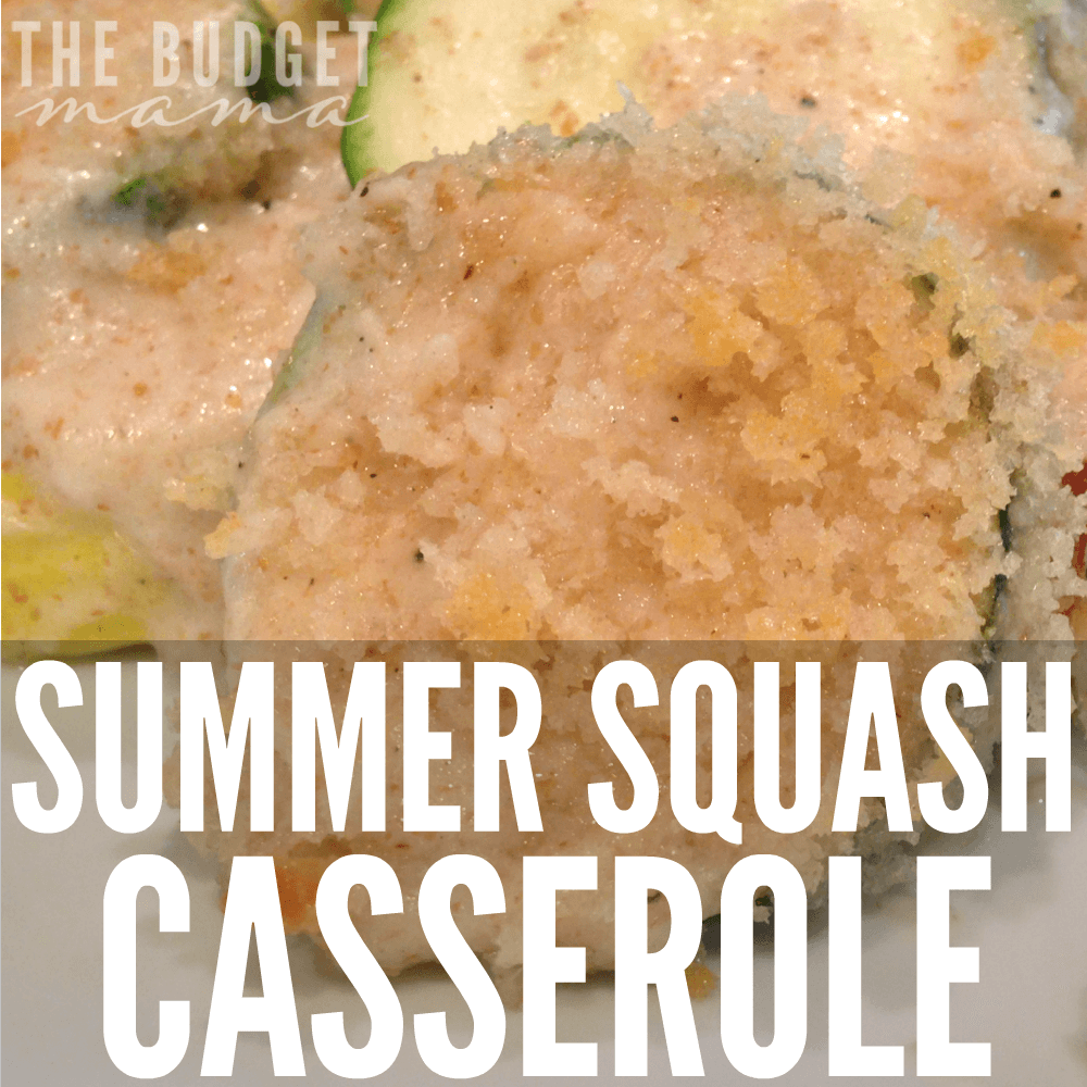 This summer squash casserole recipe is part of a clean eating diet, but is super cheap - especially if you have a garden! Use up your harvest and make this delicious main or side dish!