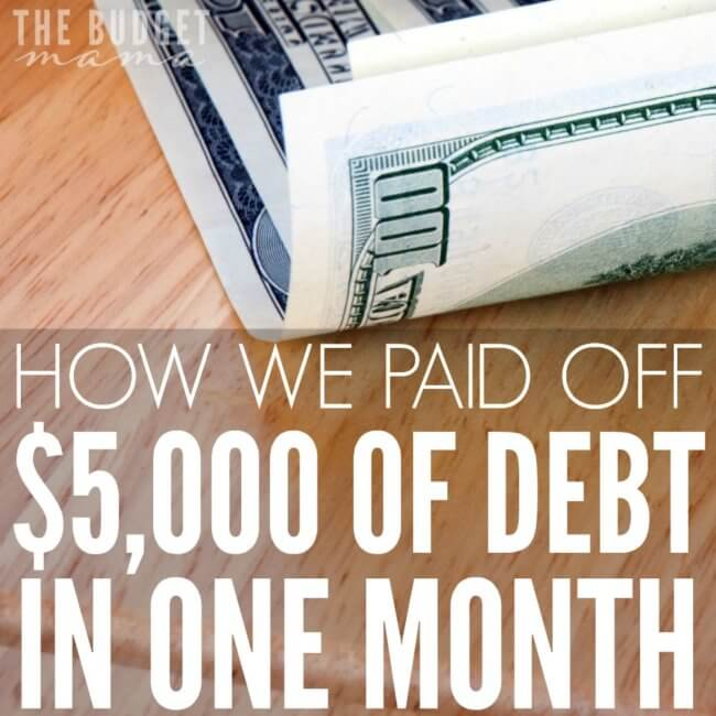 We really did pay off just over $5,000 of debt in one month but it wasn't easy and this is definitely not something that will be possible every month, but slaying the debt monster is completely possible.