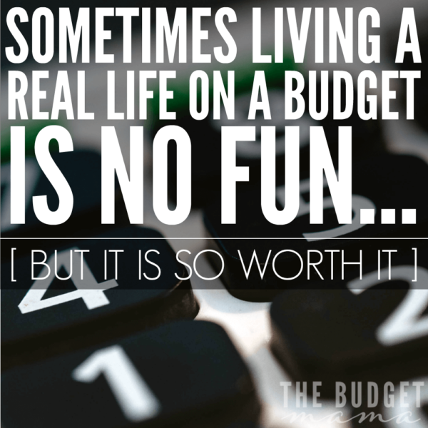Living a real life on a budget sometimes is no fun. Sometimes we just want a new outfit or we want to go on that well-deserved vacation. However living a real life on a budget isn't about the restrictions, it's about what a budget allows us to accomplish.