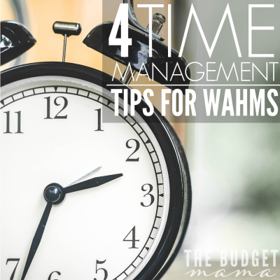 These four time management tips for work at home moms will help you keep yourself sane all while maintaining your business and home...while chasing wild kids.