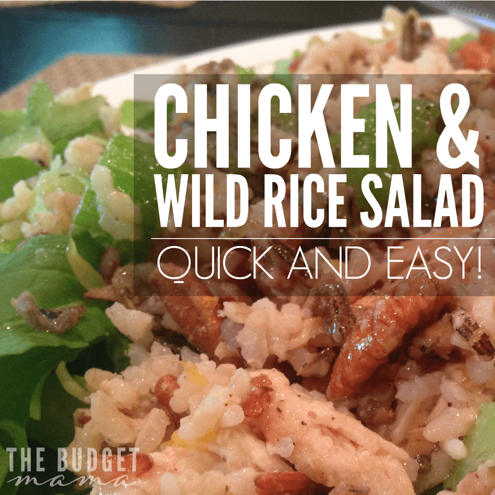 This delicious Chicken and Wild Rice Salad recipe is part of a healthy, clean eating diet and is super quick and easy to make! Make this for dinner and then use the leftovers to make a delicious wrap to take for lunch the next day!