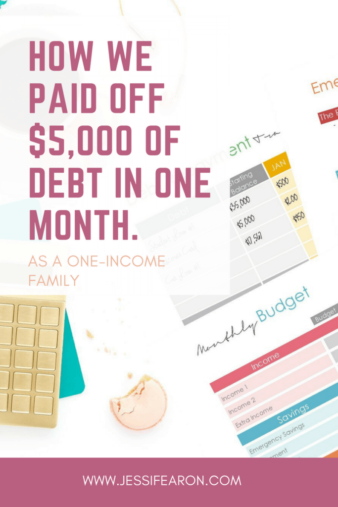 How to pay off debt; We paid off just over $5,000 of debt in one month but it wasn't easy but if you want to become debt-free, I encourage to take the first step today!