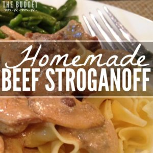 "Looking for a homemade beef stroganoff recipe that doesn't use any ""cream of ______"" soups? Then this is the one for you! This has quickly become my family's favorite version of the classic meal and best of all, it's part of a clean eating diet!"