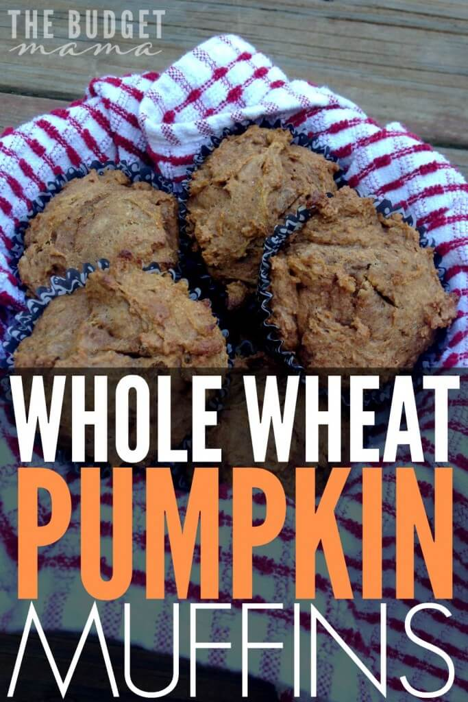 Looking for an easy-to-make breakfast recipe? This is one of my family's favorite quick and easy muffin recipes - whole wheat pumpkin muffins! This recipe uses NO sugar and is part of real food/clean eating diet so you can feel great about serving them to your family.