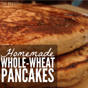 These homemade whole-wheat pancakes are super easy-to-make and delicious for the whole family! Make sure you add them to your meal plan for this week!