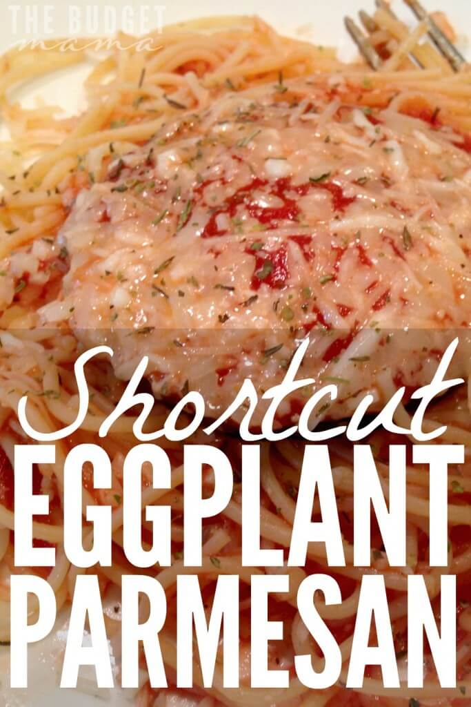 I love eggplant parmesan, but I hate how time consuming it is to prepare and cook. That's why I love this easy, shortcut eggplant parmesan recipe! Makes getting dinner on the table so much easier!