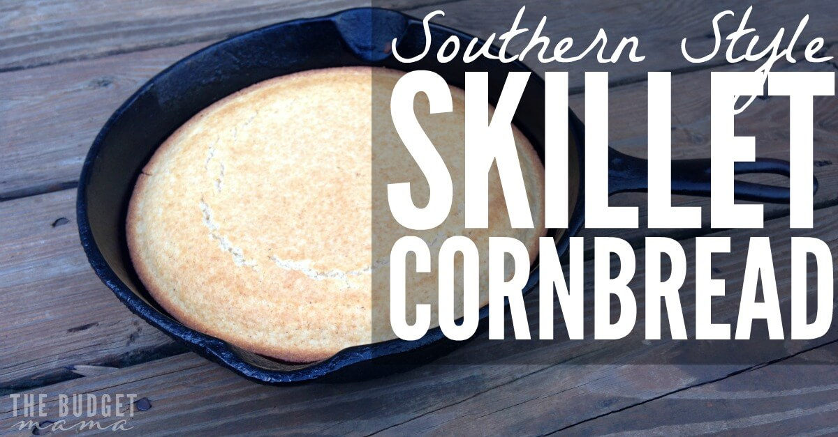 Southern Style Skillet Cornbread - The Budget Mama
