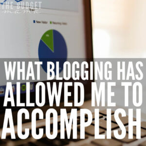 Blogging has allowed me to accomplish many things. One of which is a steady extra stream of income that has helped us payoff debt and give like never before.