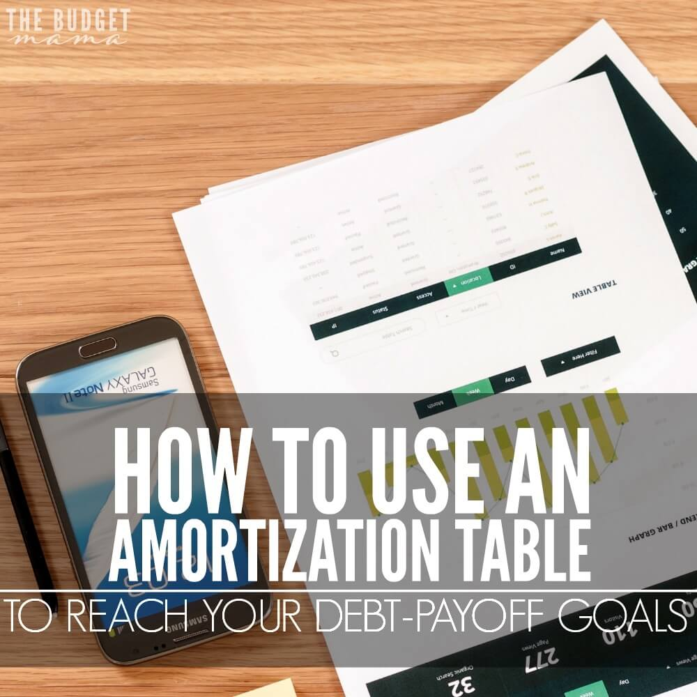 How to Use an Amortization Table to Reach Your Debt-Payoff Goals