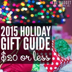 Every year I put together a list of items in my holiday gift guide that are $20 or less. I love helping others stretch their budgets and hopefully this guide will help you do just that this holiday season!