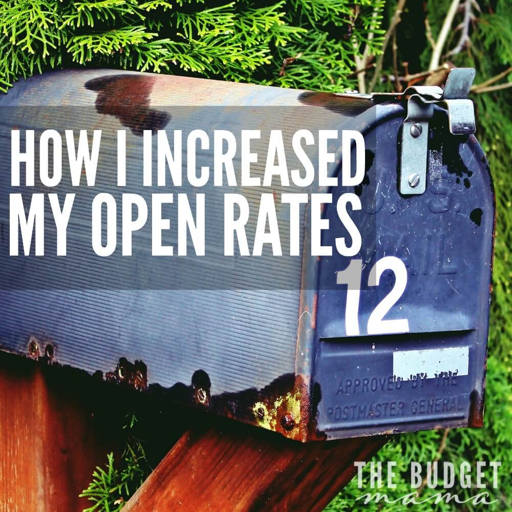 How I Increased My Open Rates