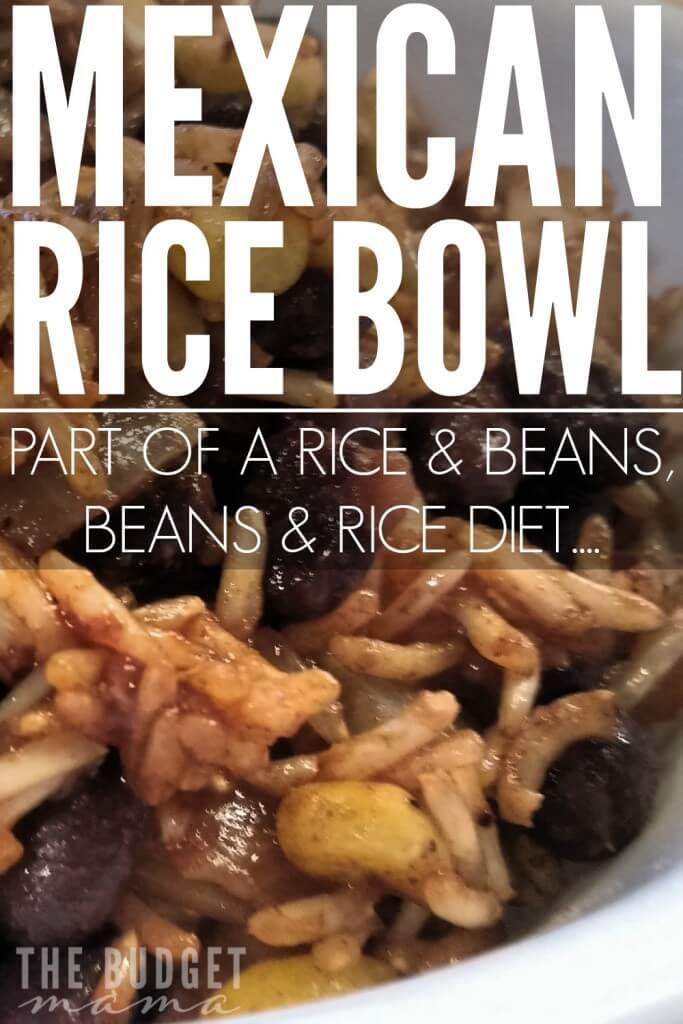 This Mexican rice bowl recipe is quick to make and is super filling! If you follow Dave Ramsey, this is a perfect Beans and Rice, Rice and Beans recipe!