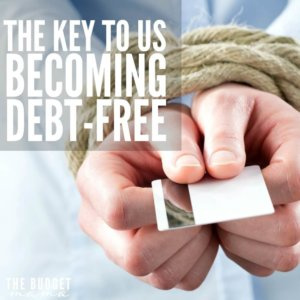 Becoming debt-free has been a goal of ours for a while now, but when we first started on this road, we made one crucial mistake. If you want to become debt-free make sure you make this one change.