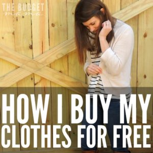 "Budgeting for clothing can be a challenge especially when that clothing is considered ""nice"". So how to buy clothing for free when you're on budget? This is how I purchase the majority of my ""nice"" clothing for free."
